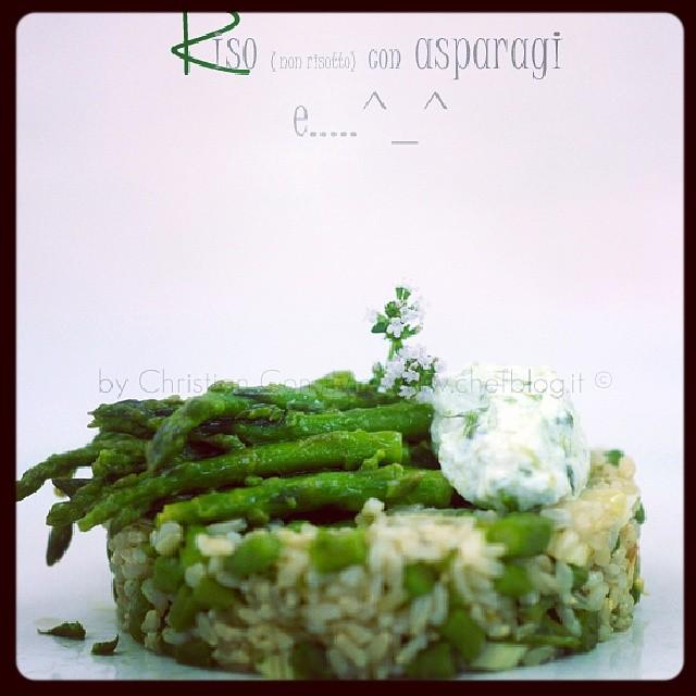 #riso con #asparagi #instafood #cooking