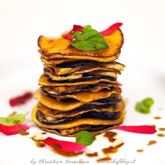 Millefoglie di zucca, tofu e melanzane #instafood #cooking #food #vegan #chefsofinstagram #chef #vegetarian #foodie #foodstagram #foodshare