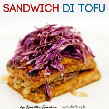 Sandwich di Tofu con cipolle brasate