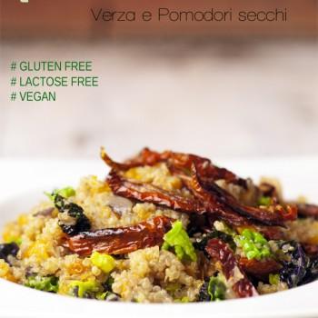 Quinoa con zucca, verza e pomodori secchi