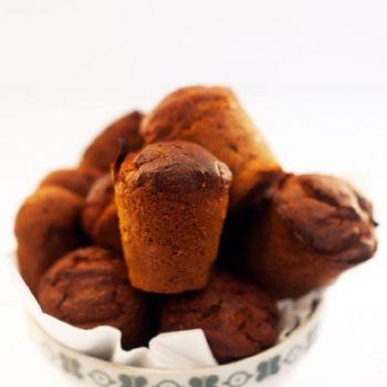 Muffin prugne e datteri (senza glutine e senza latticini)