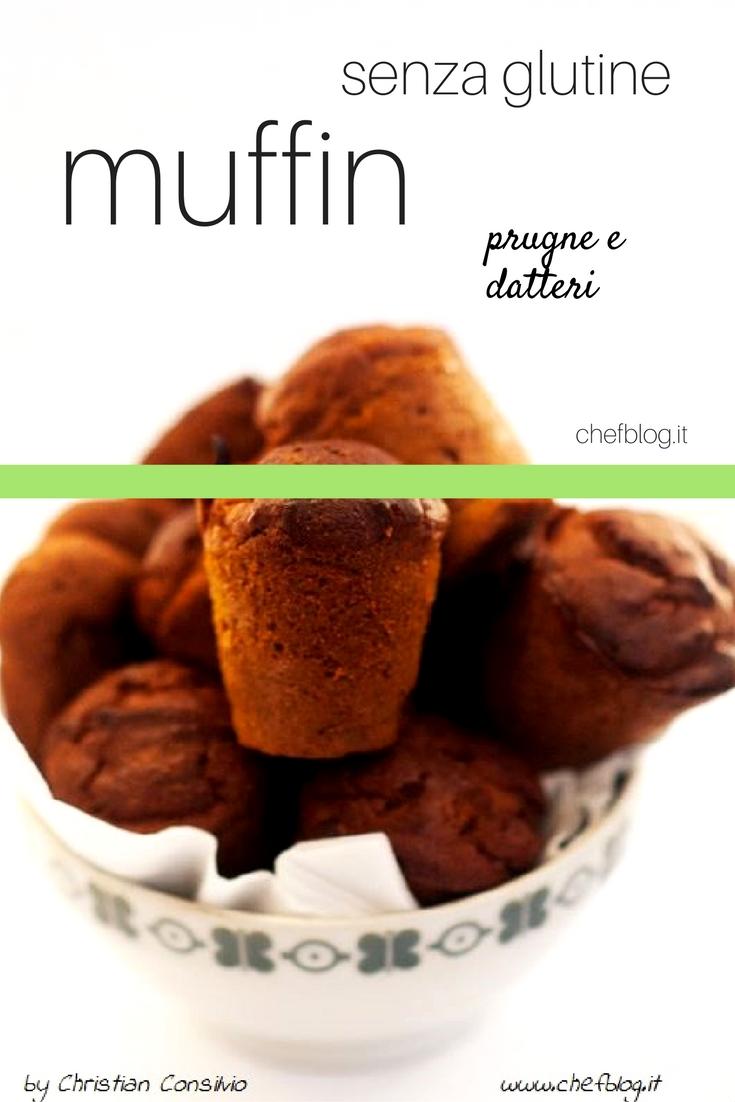 muffin-prugne-e-datteri senza glutine